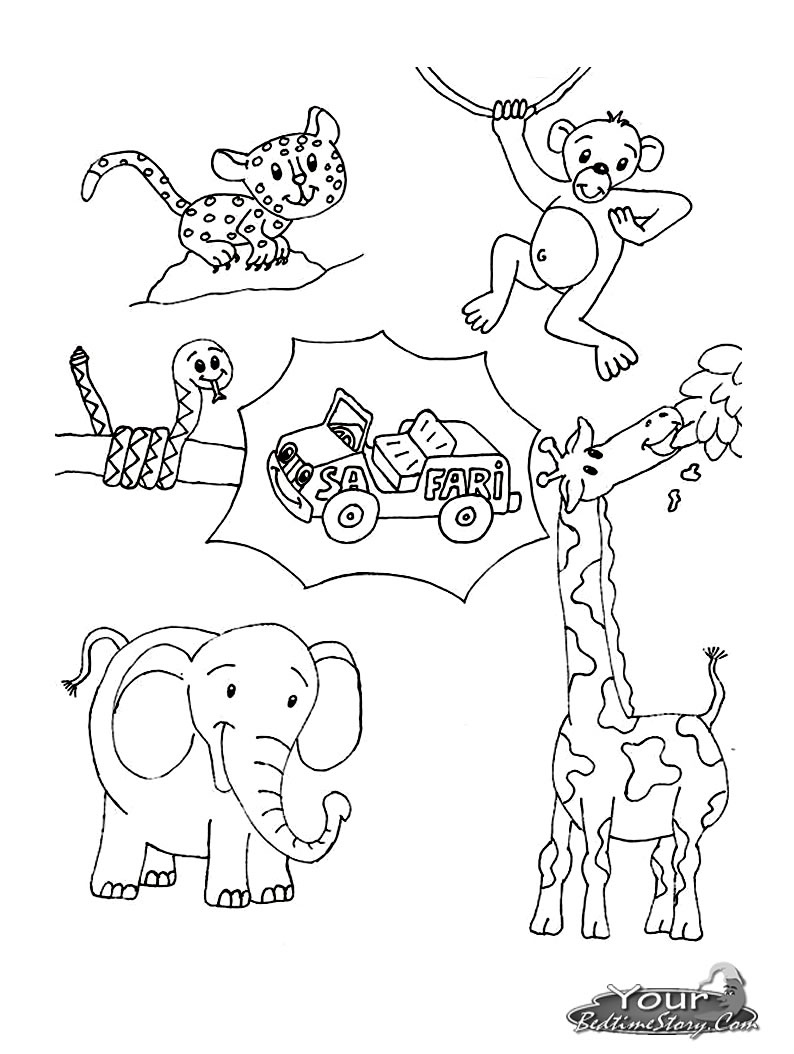 coloring printable jungle animals safari coloring pages to download and print for free jungle animals coloring printable