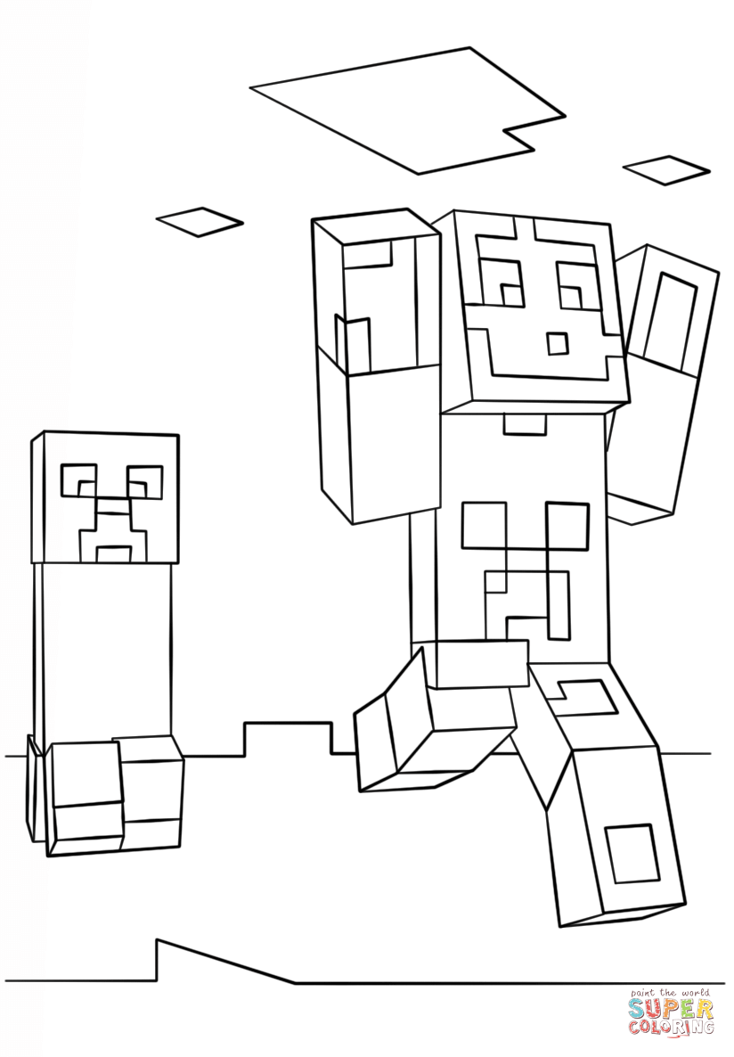 coloring printable minecraft creeper minecraft drawing creeper at getdrawings free download printable creeper minecraft coloring