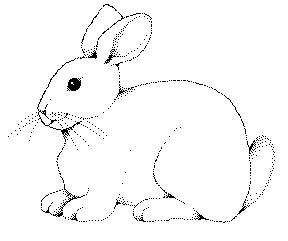 coloring rabbit burrow outline boy watching two rabbits dig holes clipart etc burrow coloring outline rabbit