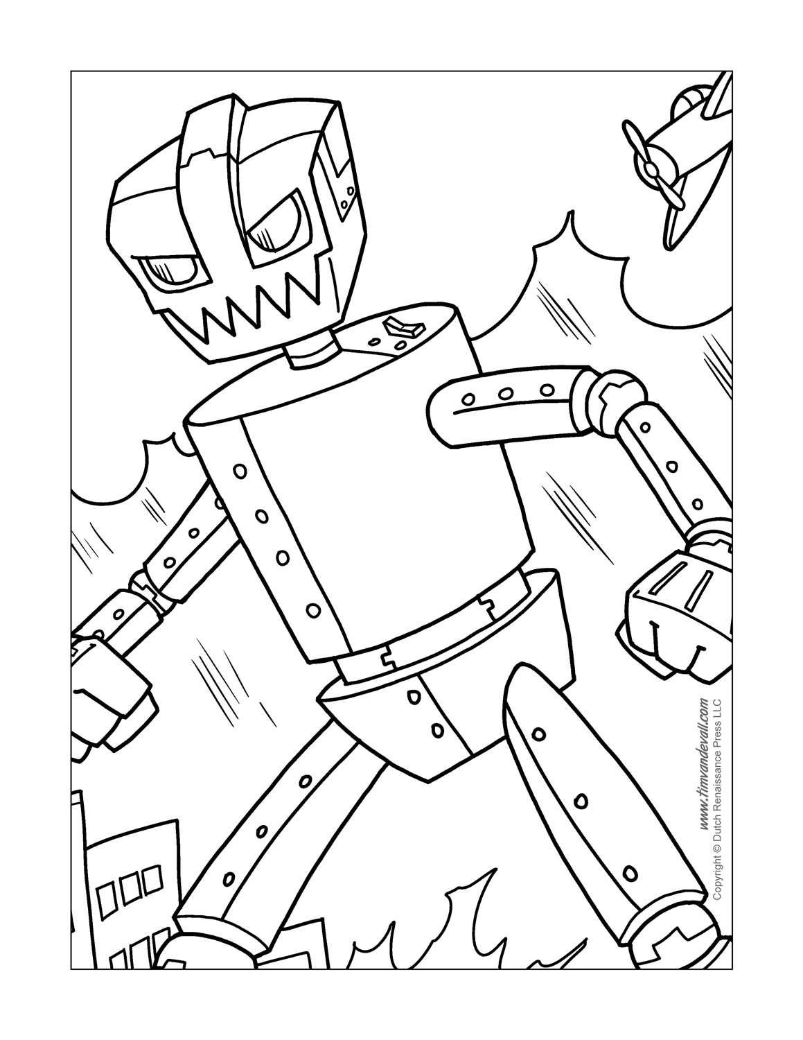 coloring robot coloring page huge robot coloring robot