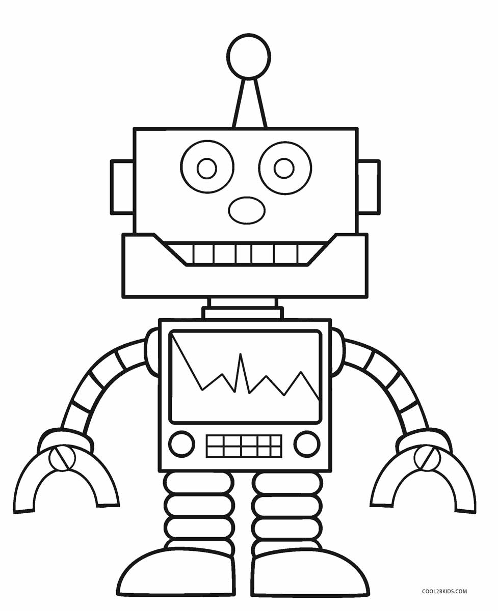 coloring robot cute robot coloring pages at getdrawings free download robot coloring