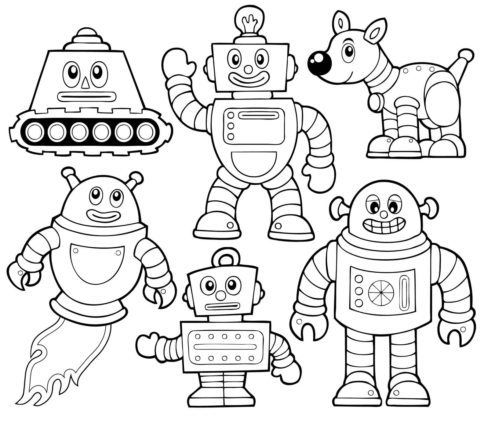 coloring robot robots coloring pages download and print robots coloring robot coloring 1 1