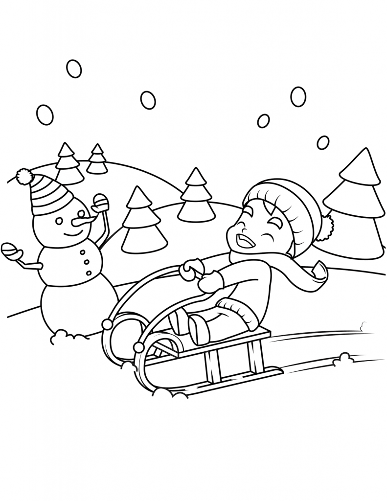 coloring scenes for kids free printable winter coloring pages scenes for coloring kids