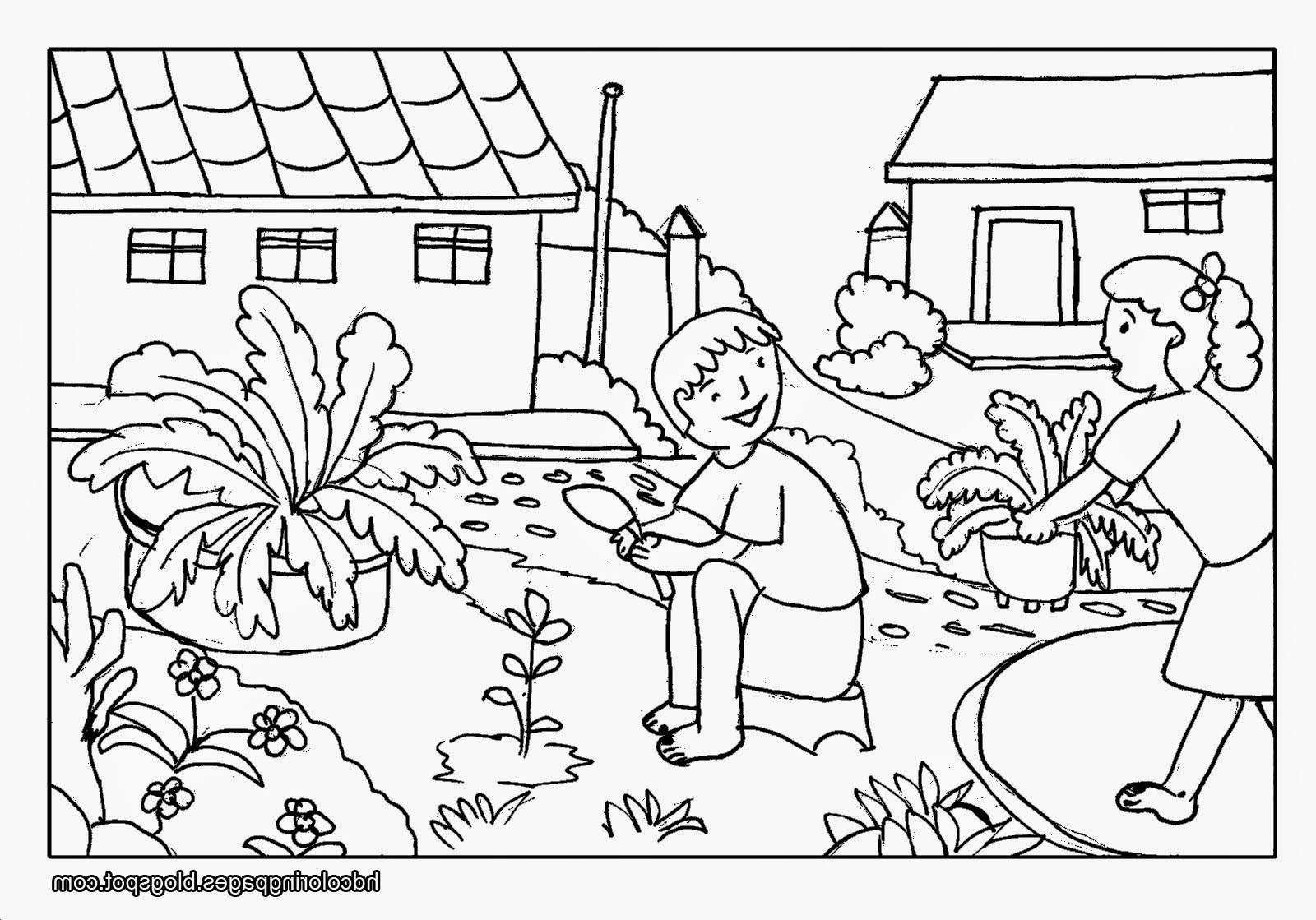 coloring scenes for kids scenery drawing step by step at getdrawings free download kids for coloring scenes