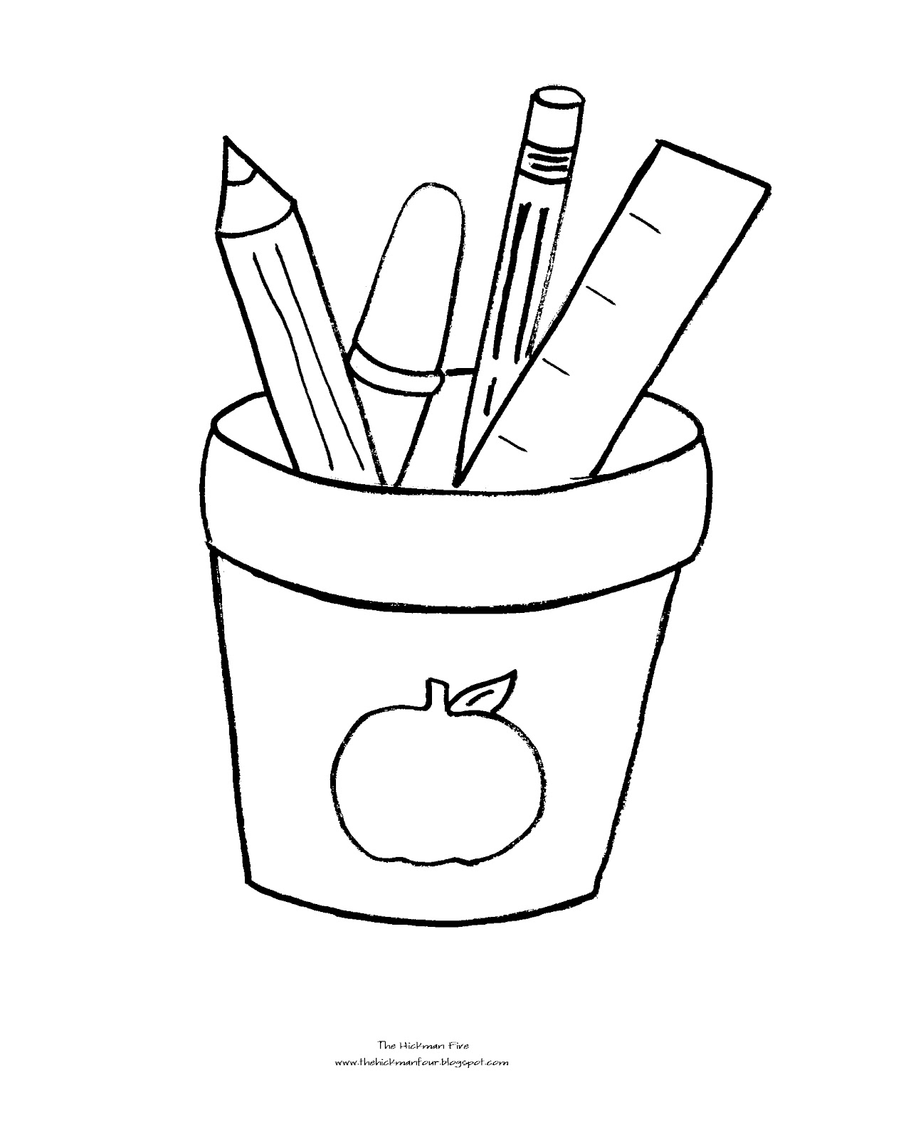 coloring school supplies school supplies coloring pages black and white free school supplies coloring