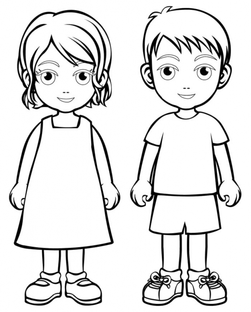 coloring sheet boy and girl little boy and girl coloring pages at getcoloringscom and sheet girl boy coloring