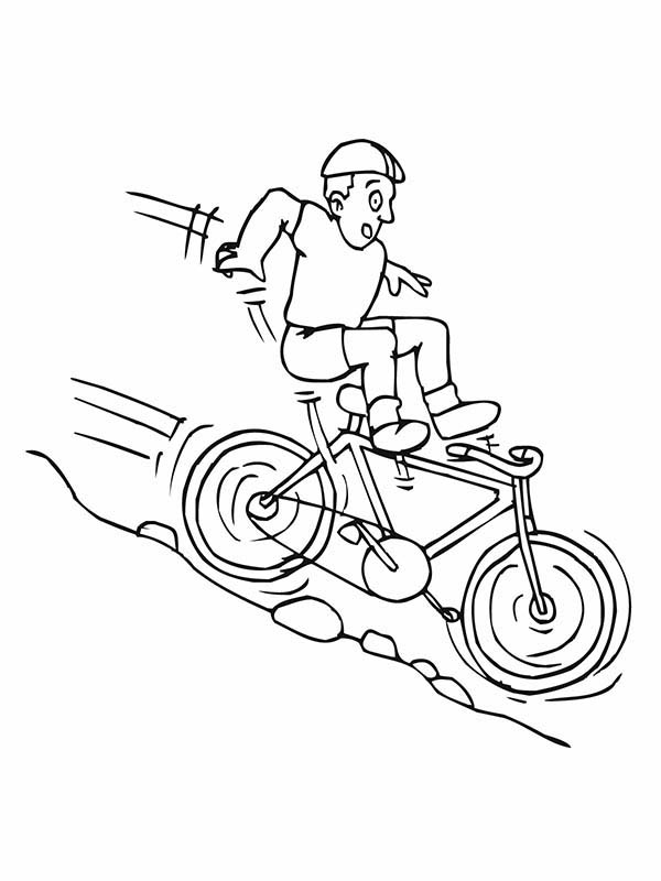 coloring sheet motorcycle coloring pages bicycle rider falling down from hill coloring page coloring motorcycle coloring pages sheet