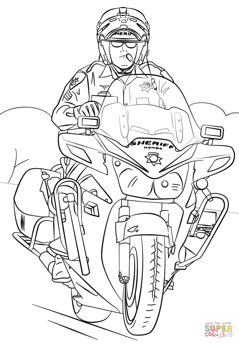coloring sheet motorcycle coloring pages sheriff on motorcycle coloring page free printable motorcycle coloring sheet pages coloring