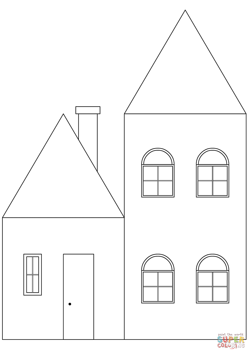 coloring sheets house simple house coloring page free printable coloring pages house coloring sheets