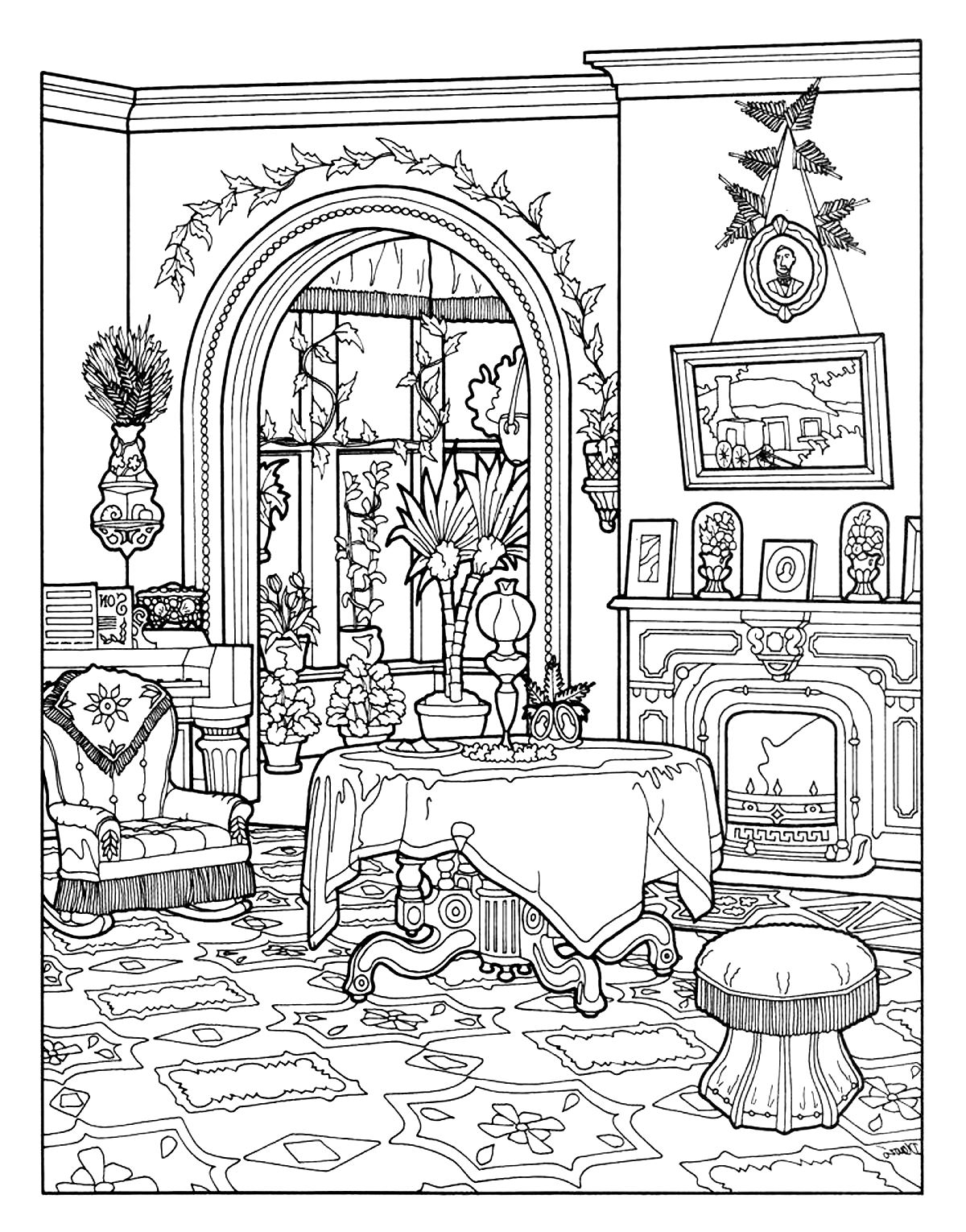 coloring sheets house victorian interior style architecture adult coloring pages coloring house sheets