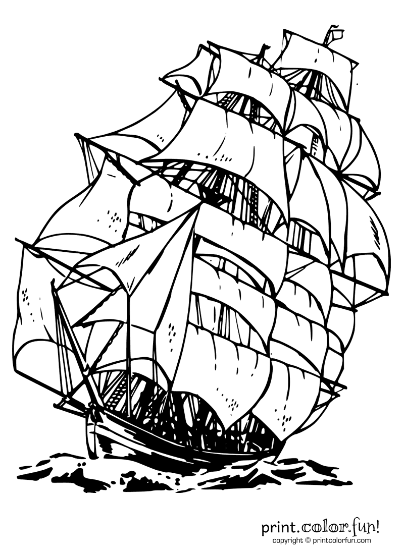 coloring ship pictures clipper ship coloring page print color fun ship coloring pictures