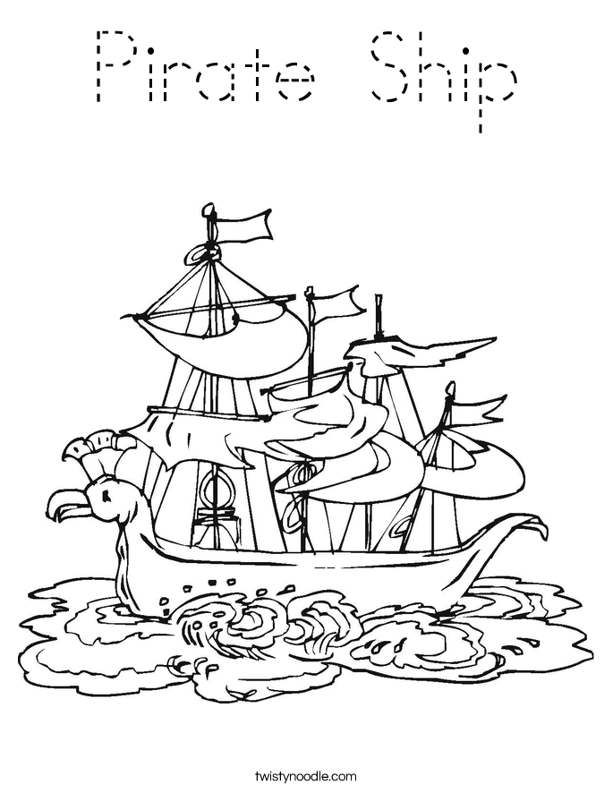 coloring ship pictures pirate ship coloring page tracing twisty noodle pictures ship coloring