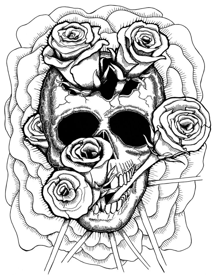 coloring skulls free printable day of the dead coloring pages best skulls coloring