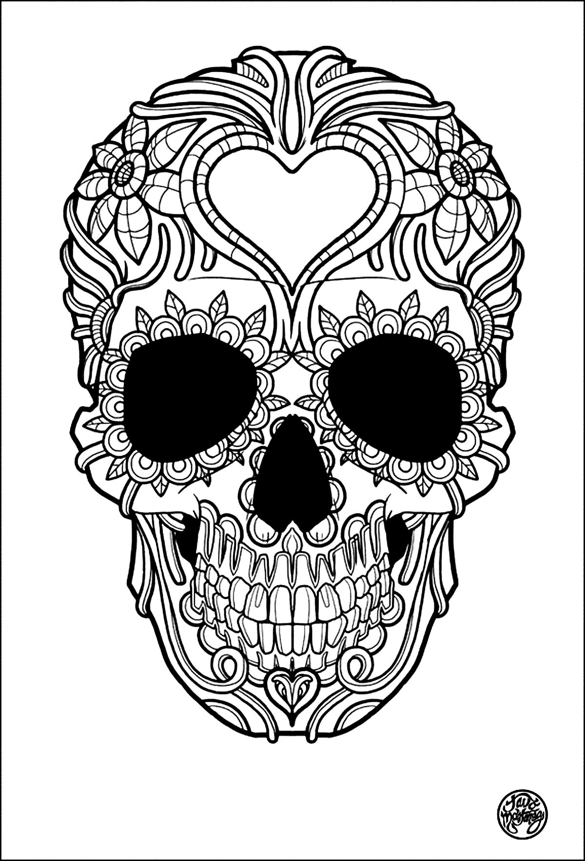 coloring skulls free printable skull coloring pages for kids skulls coloring