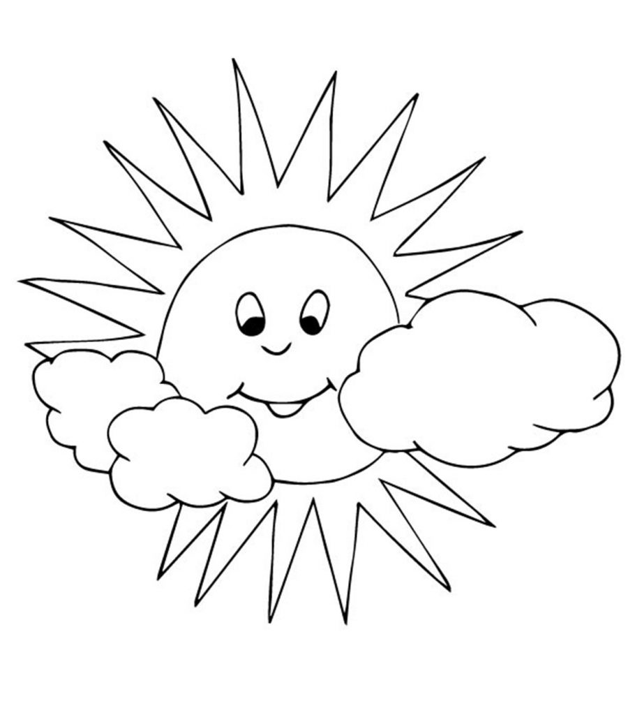 coloring sun sunshine coloring page at getcoloringscom free sun coloring