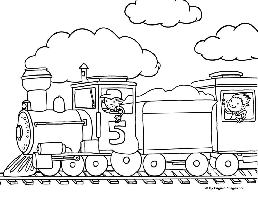 coloring train drawing pictures for kids 10 best images of air pollution worksheet cartoon coloring drawing for pictures train kids