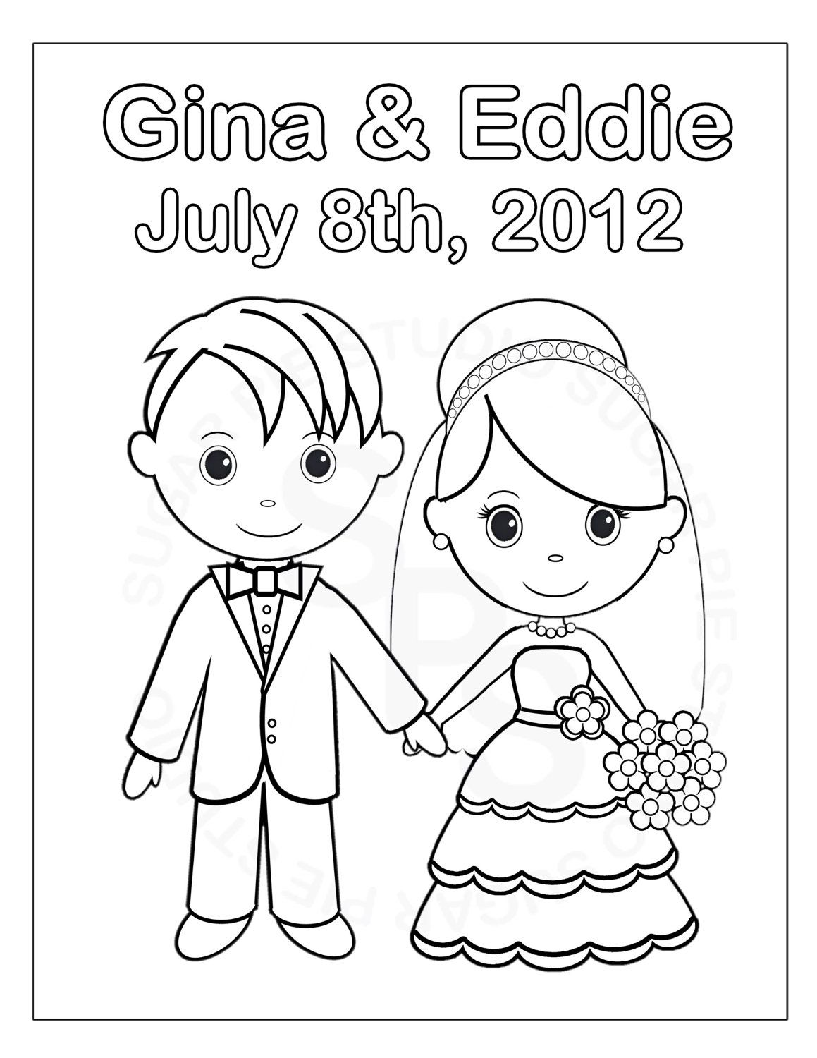 coloring wedding activities for kids printable personalized wedding coloring activity by kids activities coloring for wedding
