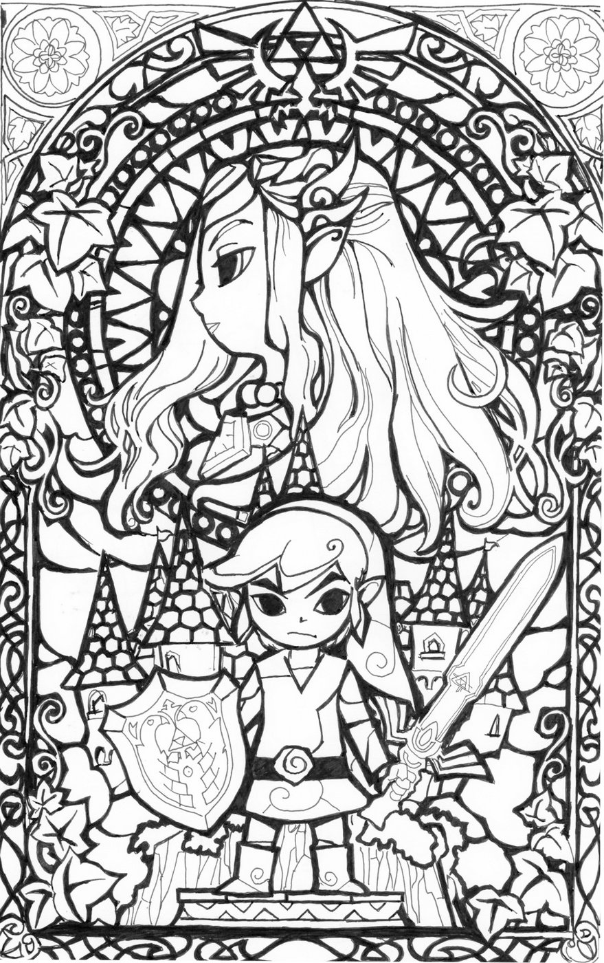 coloring with legend 28 legend of zelda coloring page wickedbabesblogcom with coloring legend
