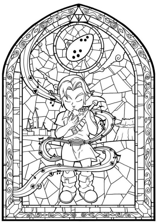 coloring with legend stained glass the legend of zelda coloring page to print coloring legend with