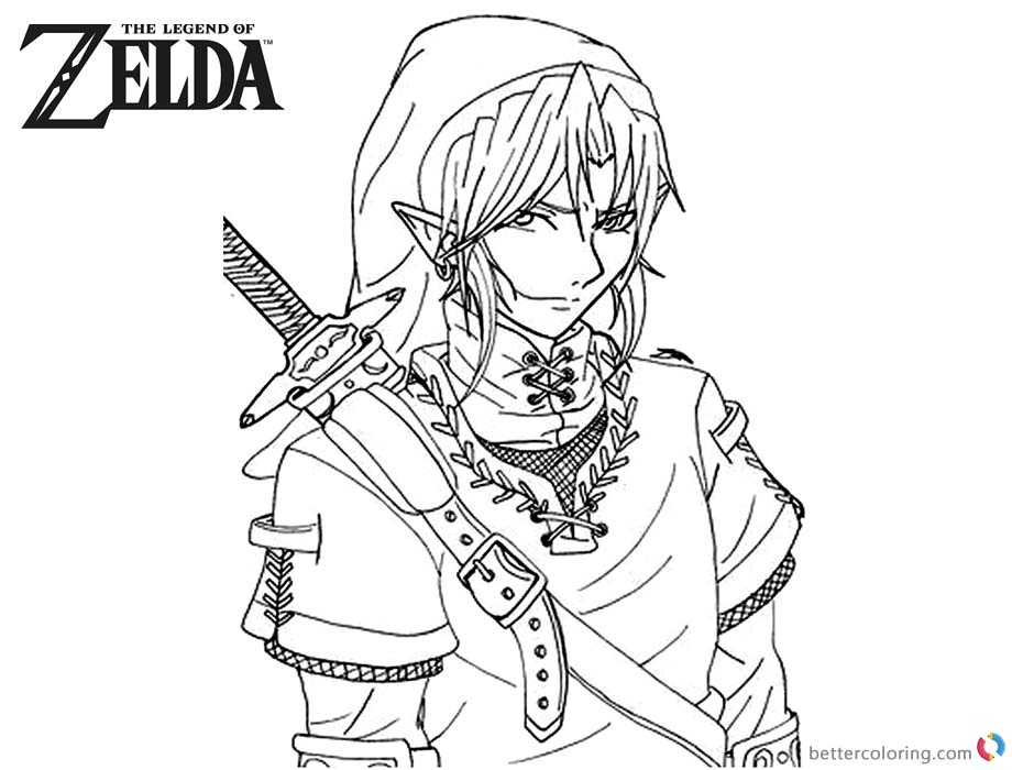 coloring with legend zelda from ocarena of time free colouring pages with coloring legend