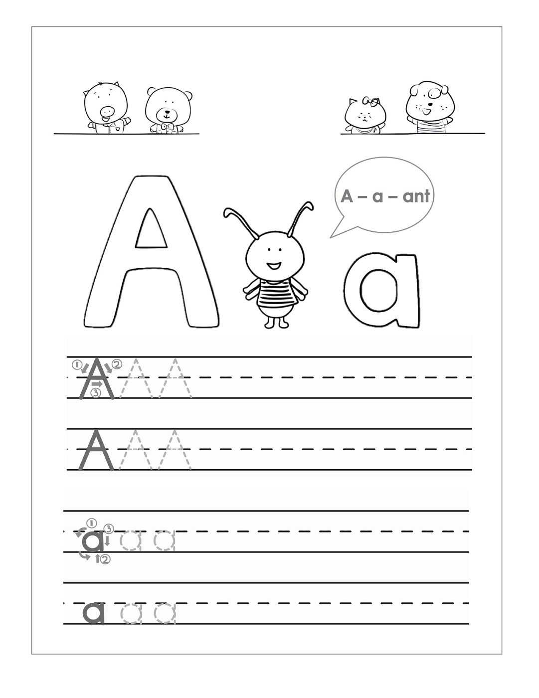 coloring worksheet for letter a tracing the letter a free printable activity shelter coloring for worksheet a letter