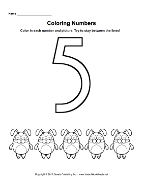 coloring worksheet number 5 craftsactvities and worksheets for preschooltoddler and number worksheet 5 coloring