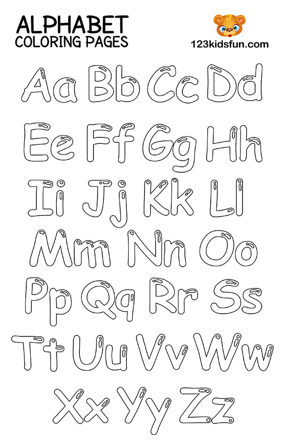 coloring worksheets abc printable toddler coloring pages for kids coloring abc worksheets