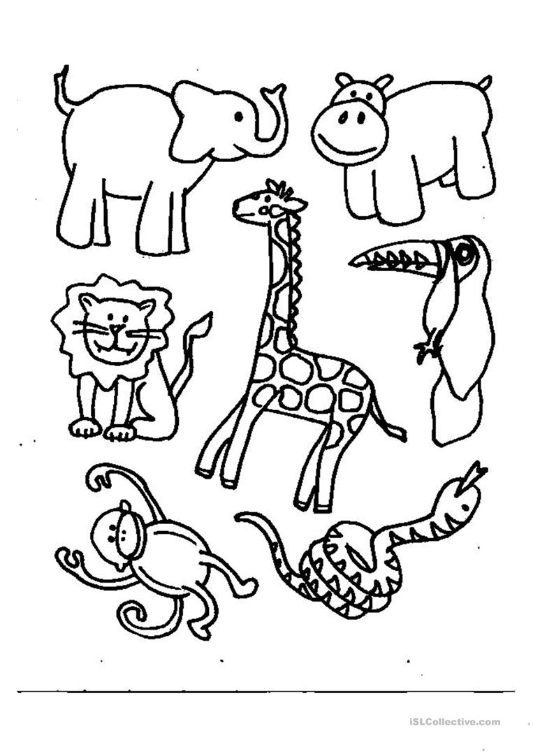 coloring worksheets animals cute animals coloring pages getcoloringpagescom worksheets coloring animals