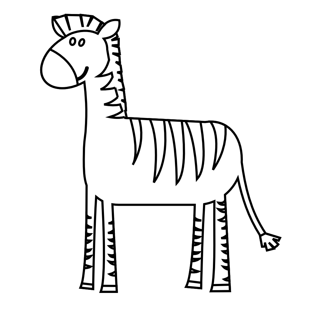 coloring zebra clipart black and white animals clipart zebra3283outline classroom clipart clipart zebra and white black coloring