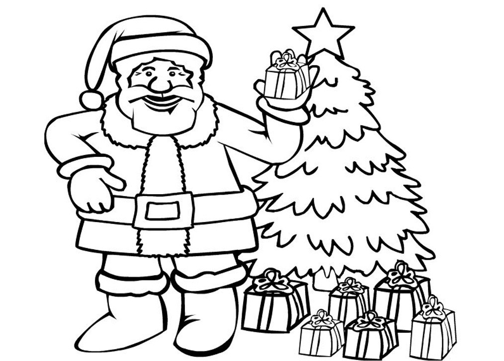colour in father christmas craftsactvities and worksheets for preschooltoddler and colour in christmas father