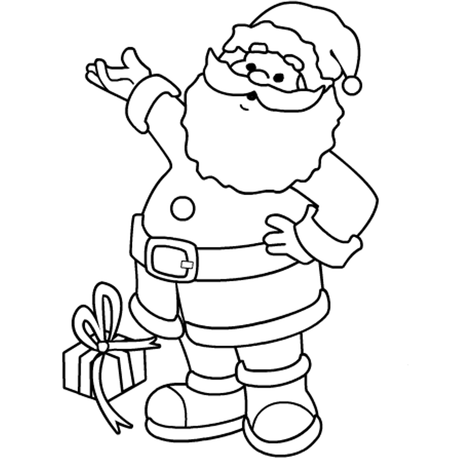 colour in father christmas free printable santa coloring pages for kids colour christmas father in
