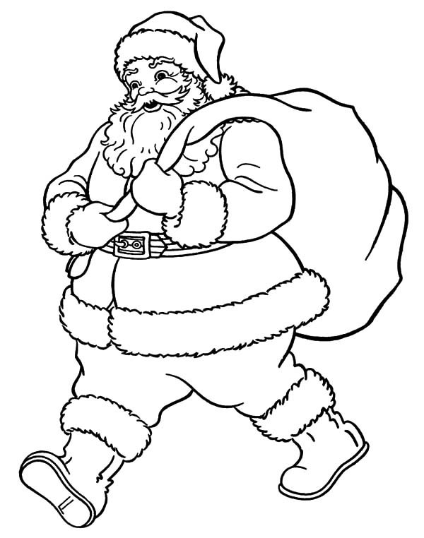 colour in father christmas merry christmas here39s a printable black white santa father in christmas colour
