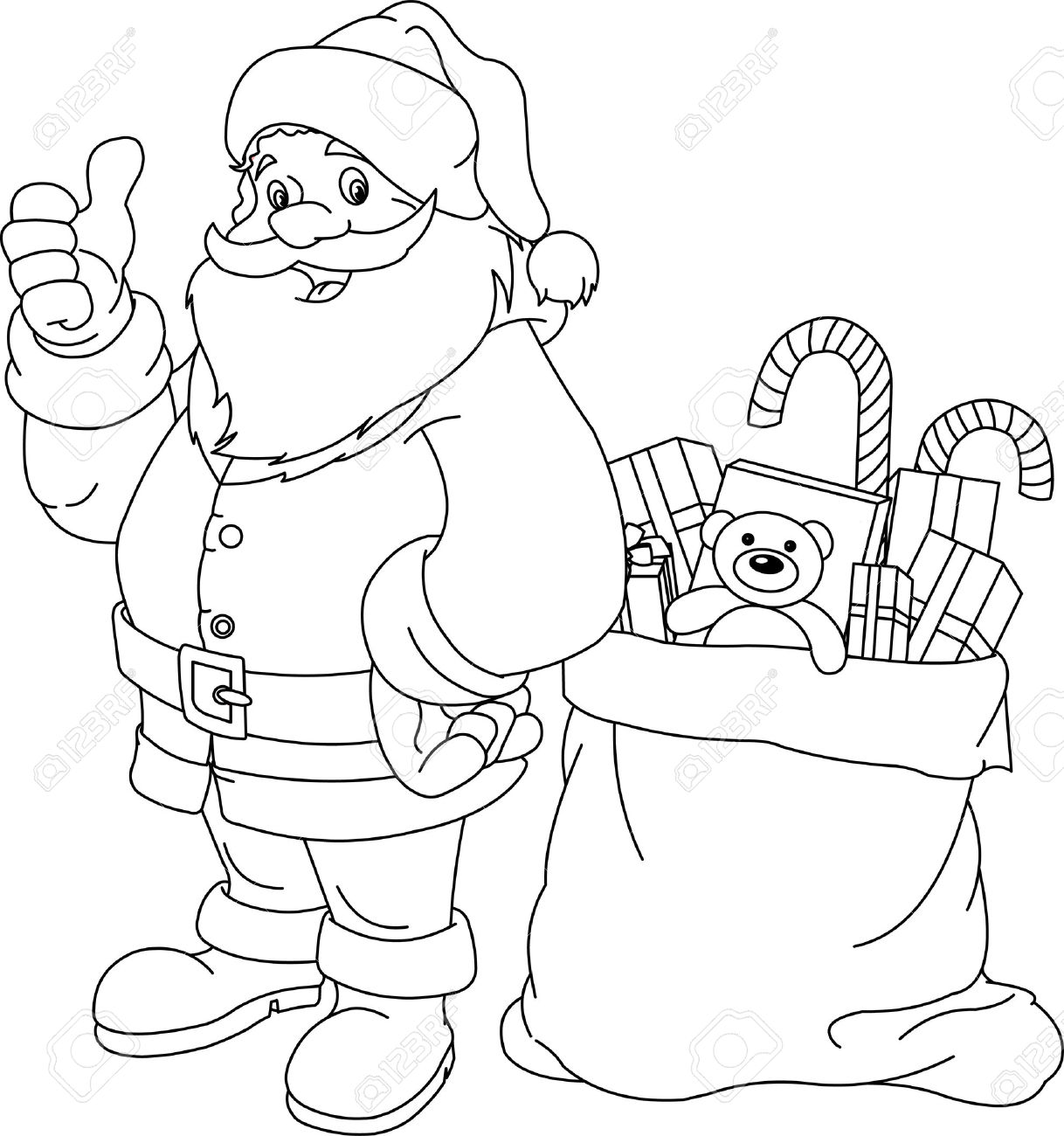 colour in father christmas santa claus coloring pages for christmas 2011 kids christmas colour in father
