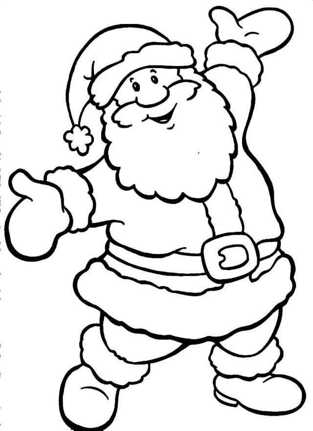 colour in father christmas santa claus coloring pages to download and print for free father colour in christmas