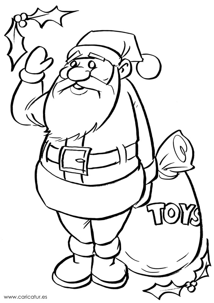 colour in father christmas santa claus on sleigh pitara kids network father christmas colour in