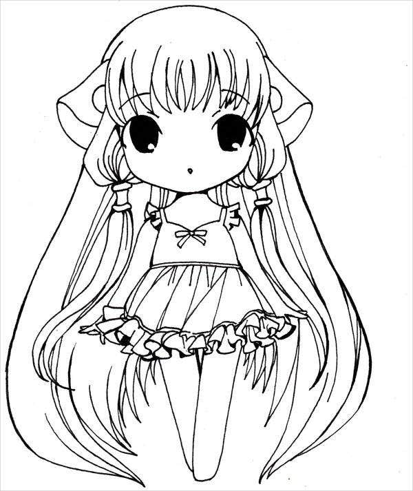 colouring in pictures for girls 8 anime girl coloring pages pdf jpg ai illustrator in colouring girls pictures for