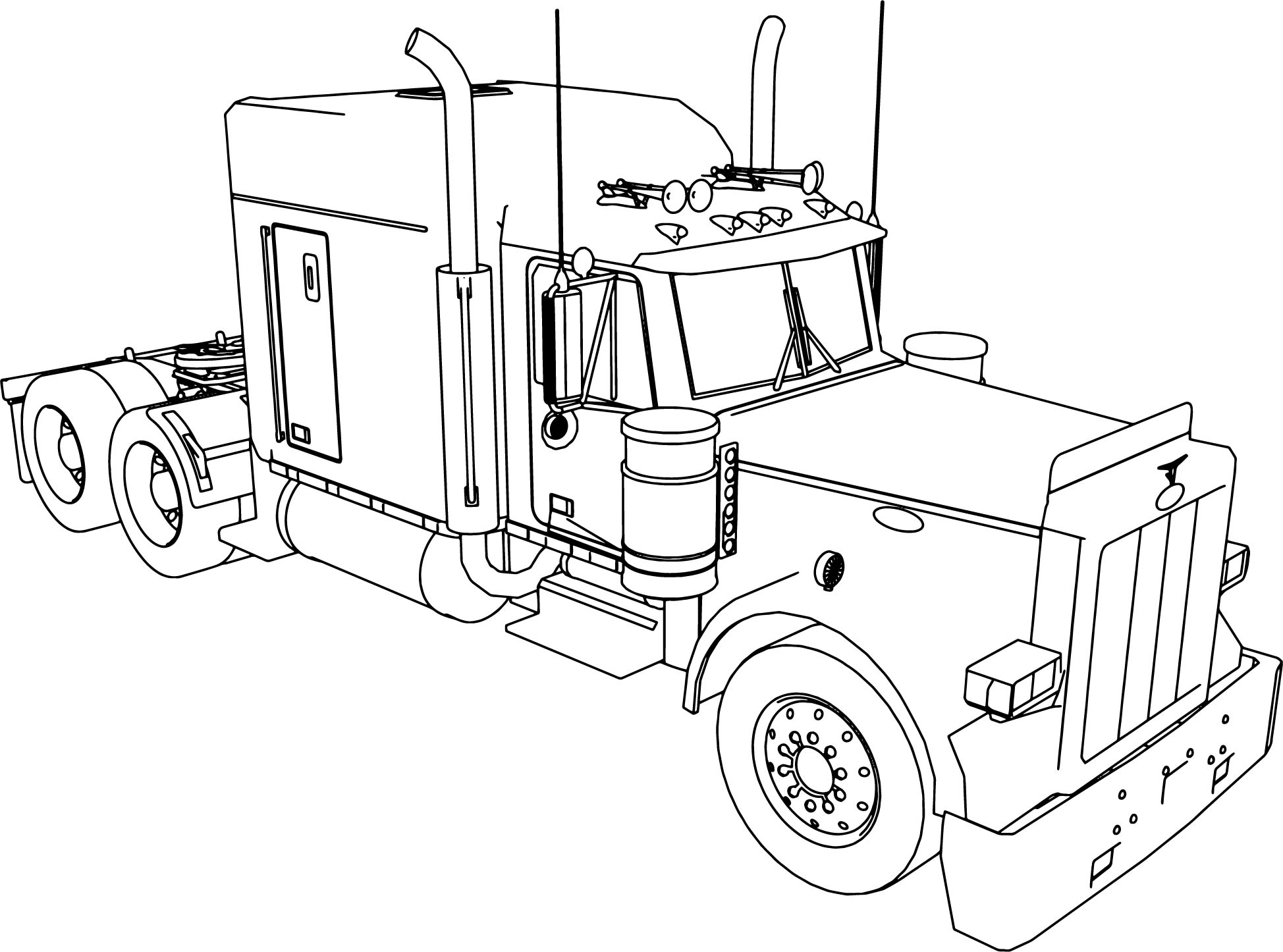 colouring in trucks cartoon truck drawing at getdrawings free download trucks in colouring