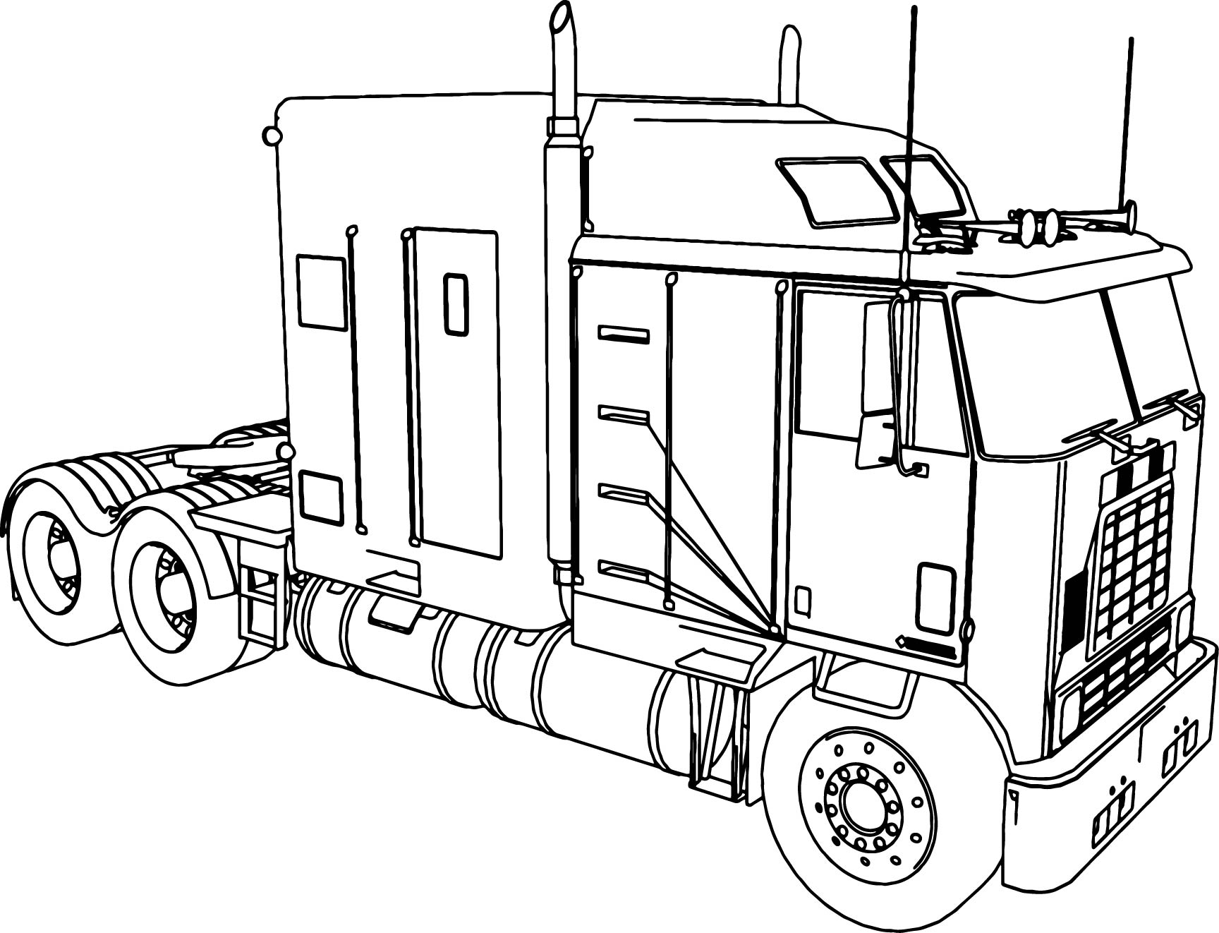 colouring in trucks coloring page large truck colouring in trucks
