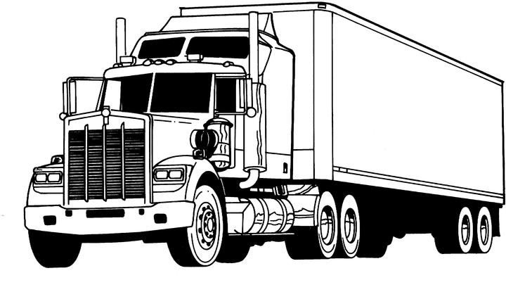 colouring in trucks truck coloring pages coloringpages1001com in trucks colouring