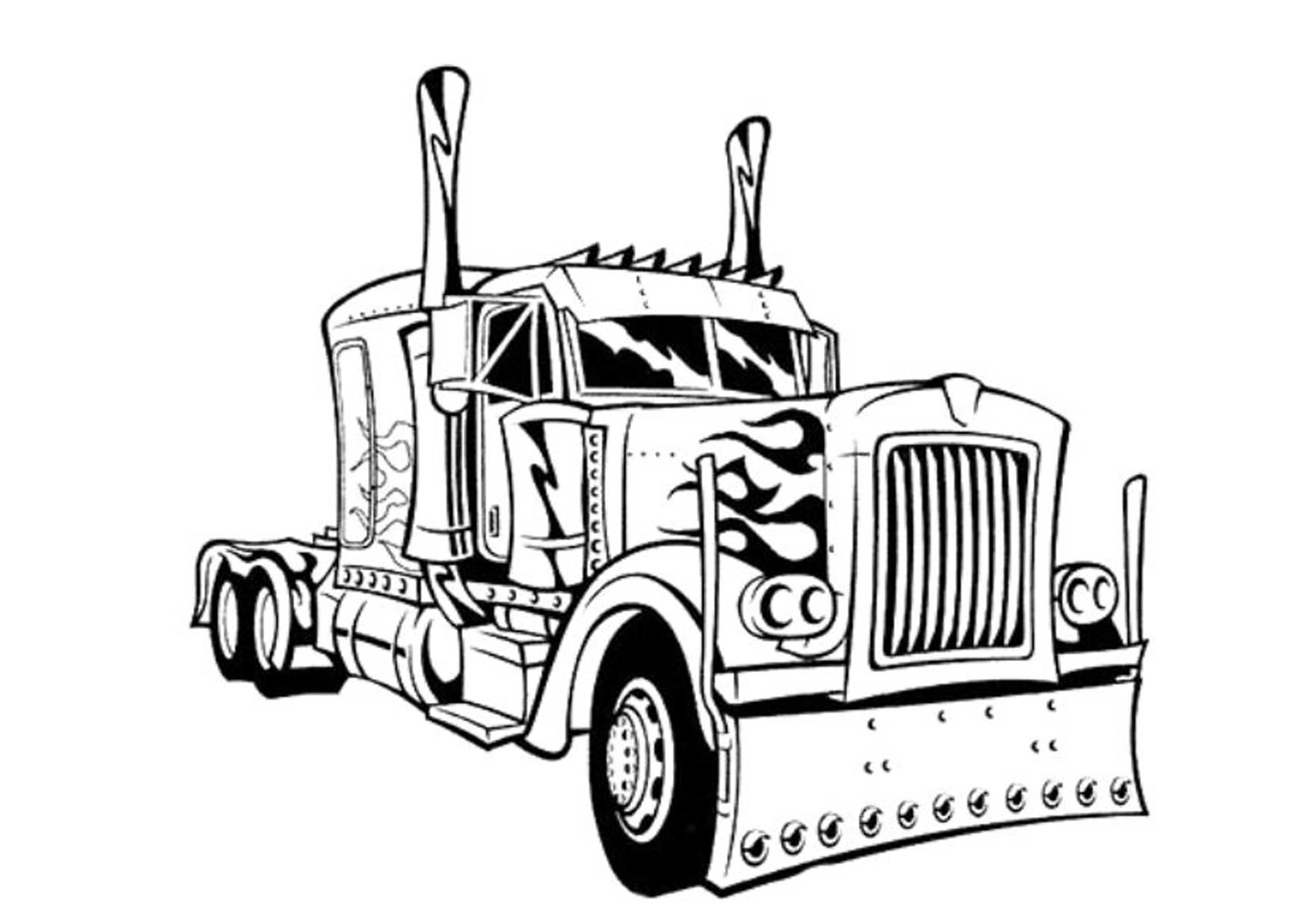 colouring in trucks truck outline drawing at getdrawings free download trucks colouring in