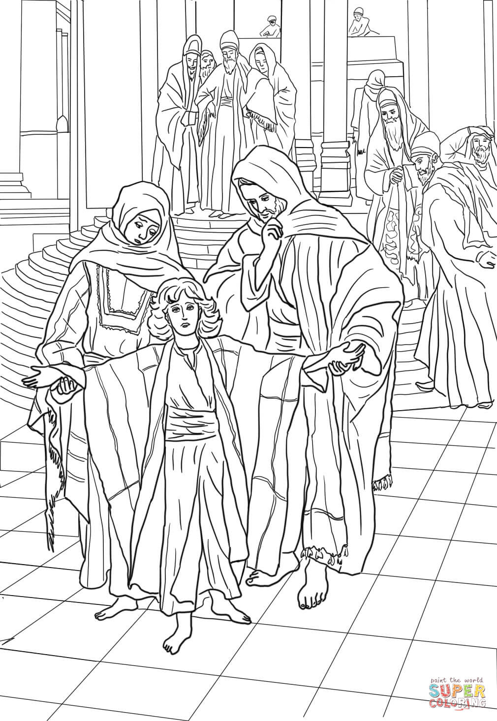colouring pages for 12 year olds 12 year old jesus found in the temple coloring page free 12 year pages for olds colouring