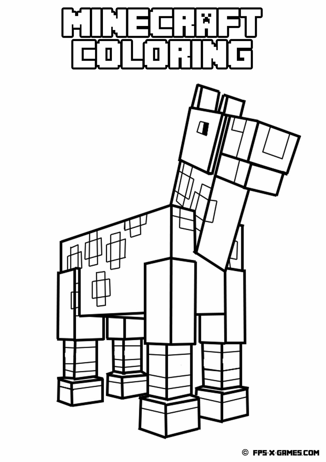colouring pages of minecraft minecraft coloring pages enderman at getcoloringscom of pages colouring minecraft