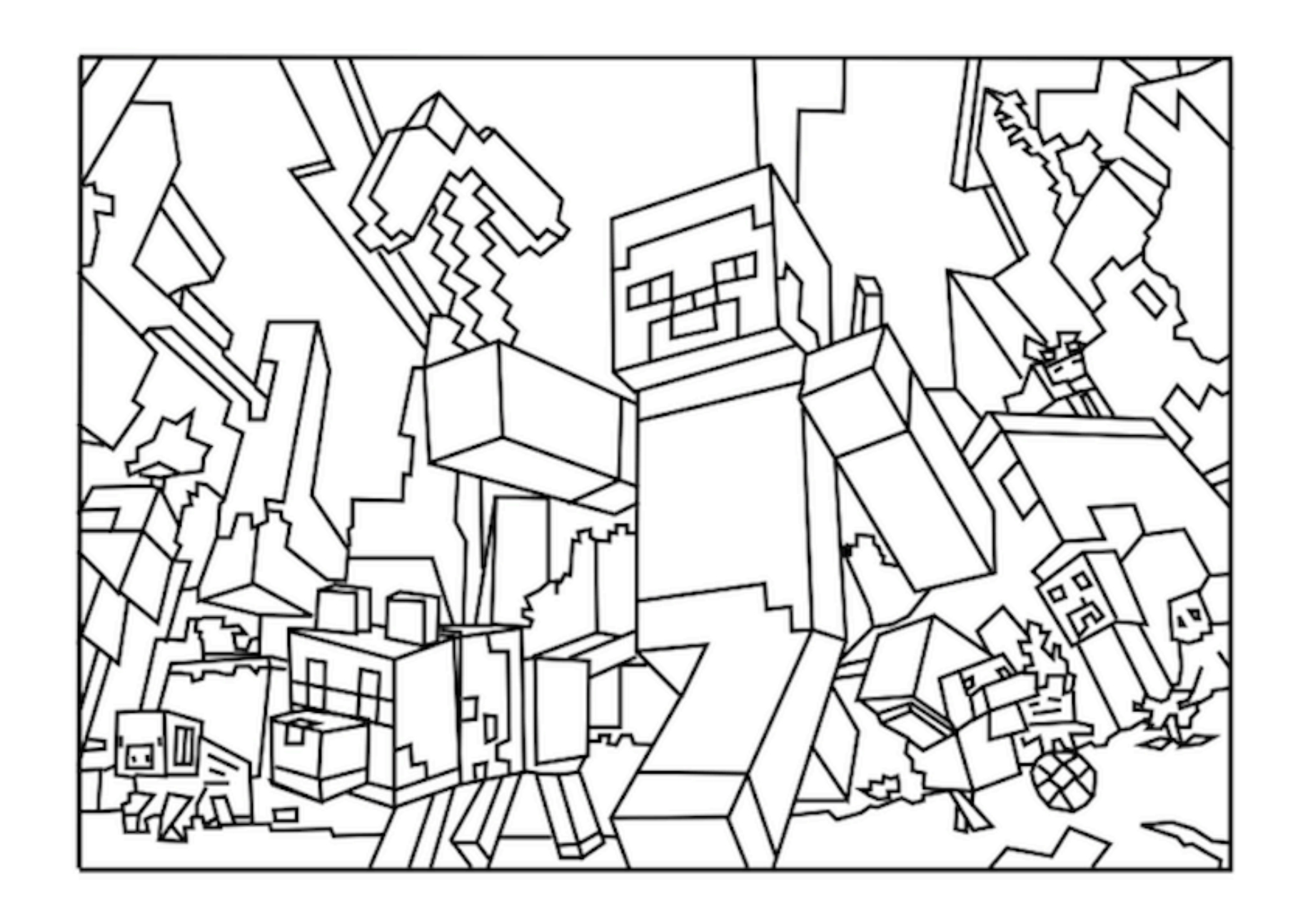 colouring pages of minecraft minecraft coloring pages free printable coloring pages of pages minecraft colouring