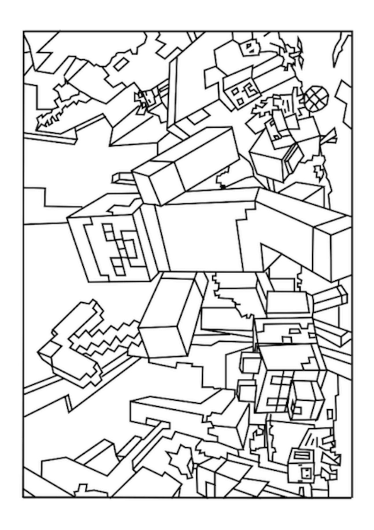 colouring pages of minecraft minecraft coloring pages to download and print for free of minecraft pages colouring