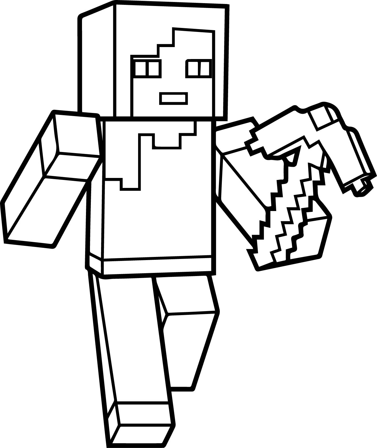 colouring pages of minecraft minecraft sword coloring pages at getcoloringscom free minecraft pages colouring of