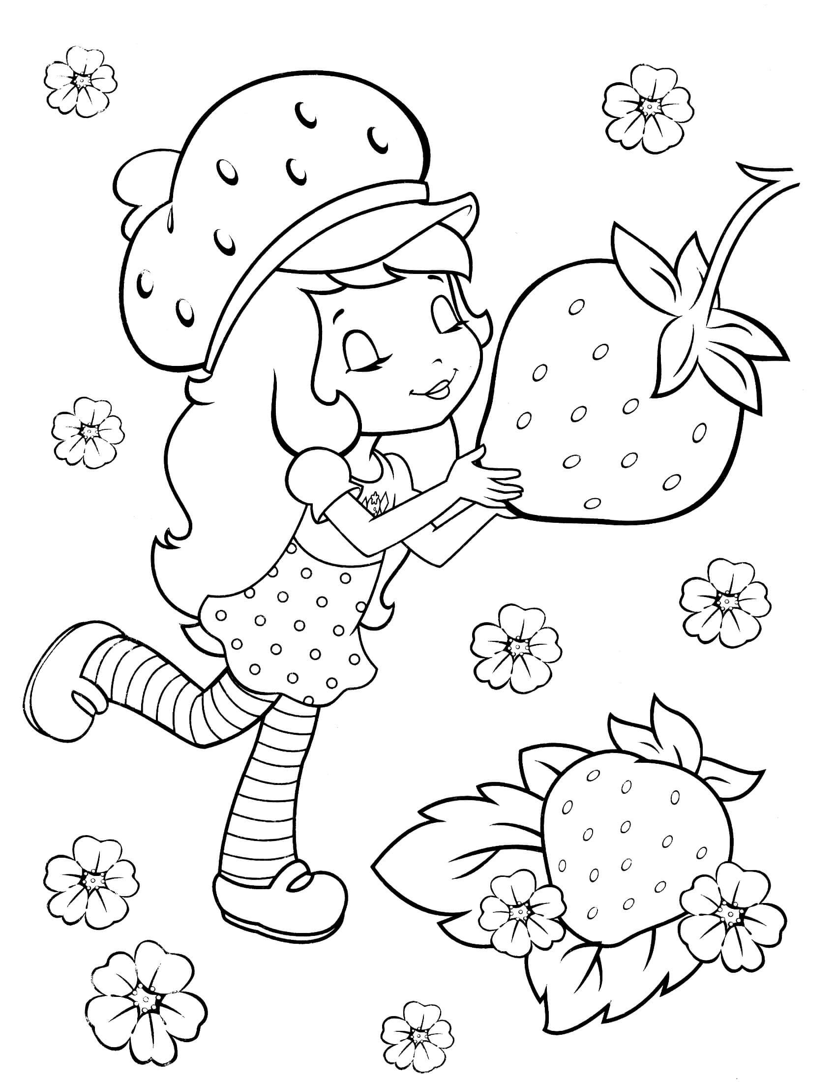 colouring strawberry shortcake coloring pages of strawberry short cake coloring home strawberry shortcake colouring
