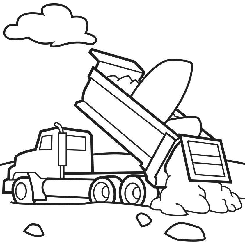 construction truck coloring pages construction vehicle coloring pages lovely excavator truck coloring construction pages