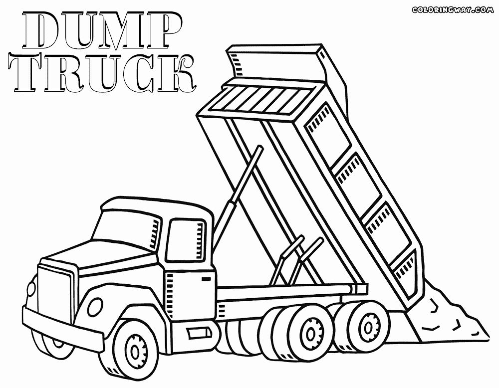 construction truck coloring pages diesel truck coloring pages at getcoloringscom free coloring construction truck pages