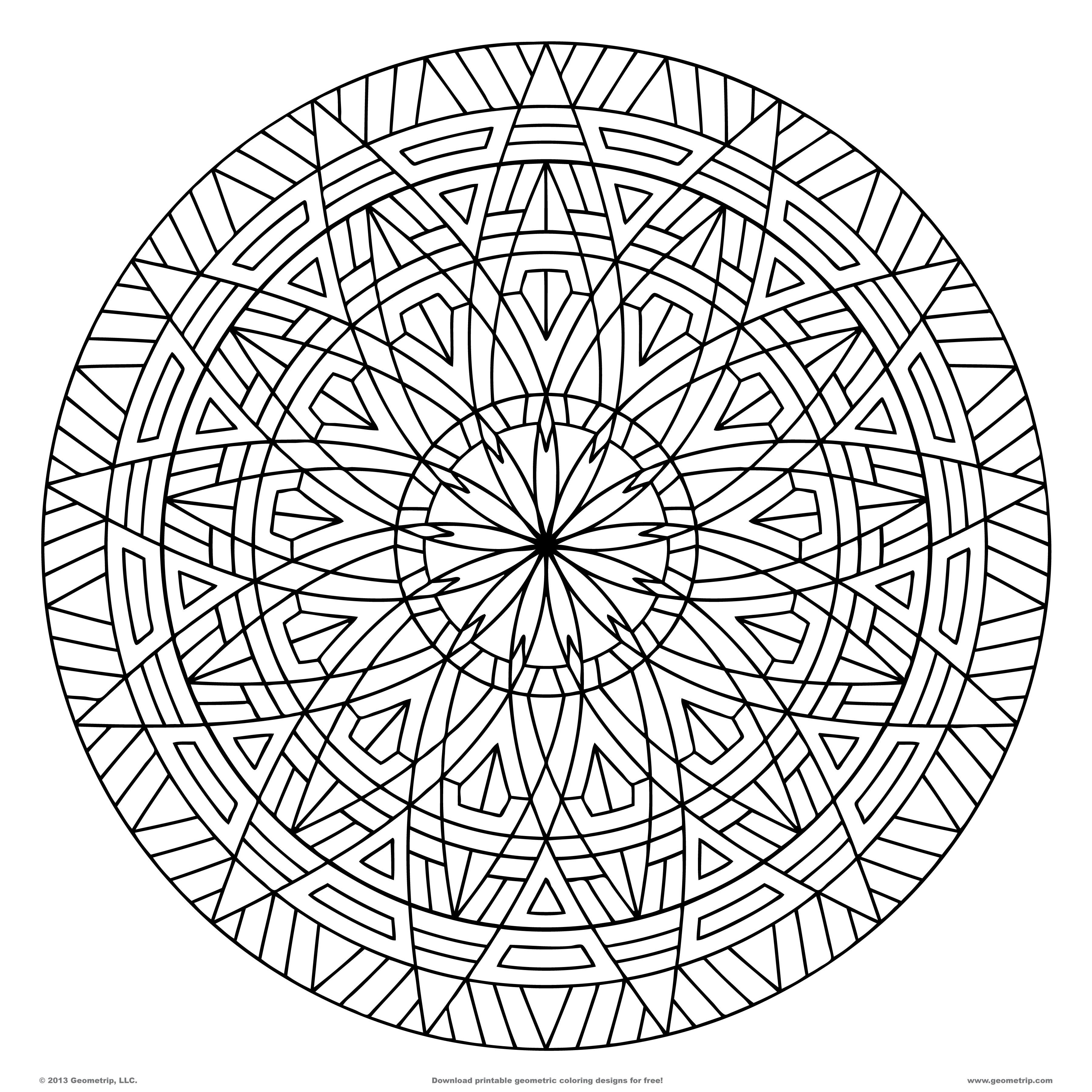 cool patterns to colour in kaleidoscope coloring pages geometripcom free in colour patterns cool to