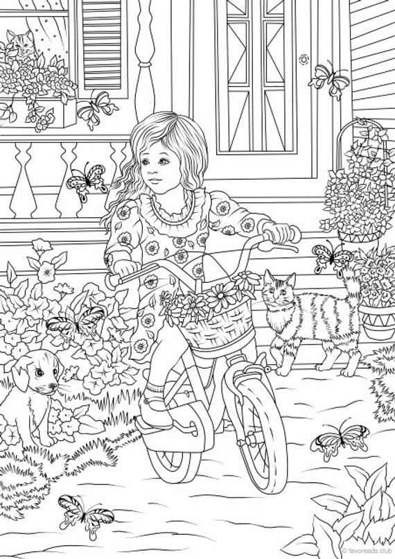 country coloring pages spring flowers butterfly and country house coloring page coloring pages country